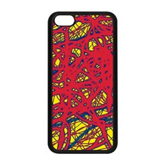 Yellow and red neon design Apple iPhone 5C Seamless Case (Black)