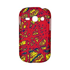 Yellow and red neon design Samsung Galaxy S6810 Hardshell Case