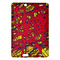 Yellow And Red Neon Design Amazon Kindle Fire Hd (2013) Hardshell Case
