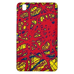 Yellow and red neon design Samsung Galaxy Tab Pro 8.4 Hardshell Case