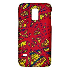 Yellow and red neon design Galaxy S5 Mini