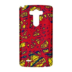 Yellow and red neon design LG G3 Hardshell Case