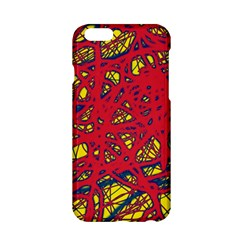 Yellow and red neon design Apple iPhone 6/6S Hardshell Case