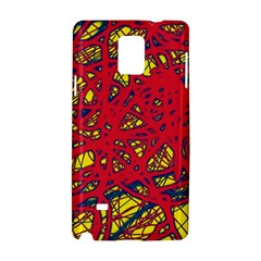 Yellow and red neon design Samsung Galaxy Note 4 Hardshell Case