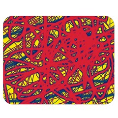 Yellow and red neon design Double Sided Flano Blanket (Medium)