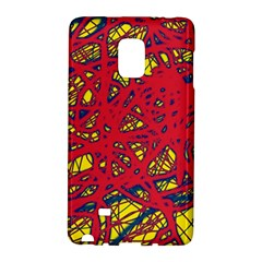 Yellow and red neon design Galaxy Note Edge