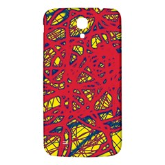 Yellow and red neon design Samsung Galaxy Mega I9200 Hardshell Back Case