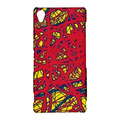 Yellow and red neon design Sony Xperia Z3