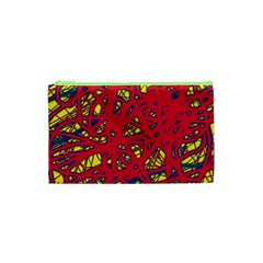 Yellow and red neon design Cosmetic Bag (XS)