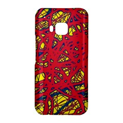 Yellow and red neon design HTC One M9 Hardshell Case