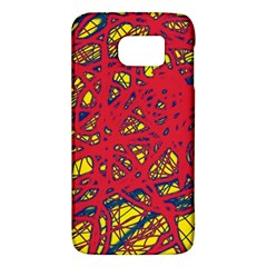 Yellow and red neon design Galaxy S6