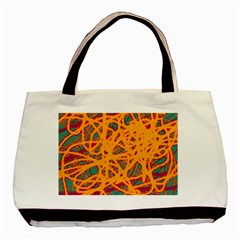 Orange neon chaos Basic Tote Bag (Two Sides)