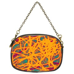 Orange neon chaos Chain Purses (Two Sides)