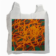 Orange neon chaos Recycle Bag (One Side)