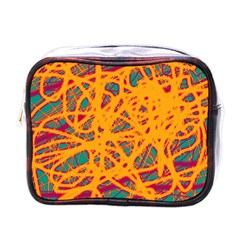 Orange neon chaos Mini Toiletries Bags