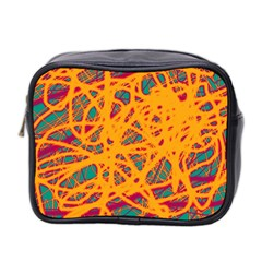 Orange neon chaos Mini Toiletries Bag 2-Side