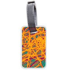 Orange neon chaos Luggage Tags (Two Sides)