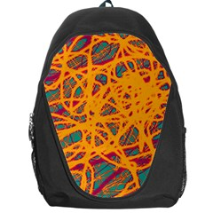 Orange neon chaos Backpack Bag