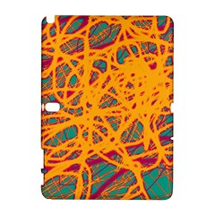 Orange neon chaos Samsung Galaxy Note 10.1 (P600) Hardshell Case