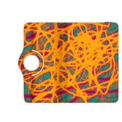 Orange neon chaos Kindle Fire HDX 8.9  Flip 360 Case