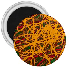 Yellow neon chaos 3  Magnets
