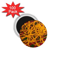 Yellow neon chaos 1.75  Magnets (100 pack)