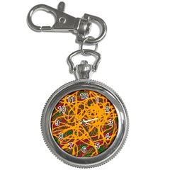 Yellow neon chaos Key Chain Watches