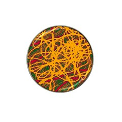 Yellow neon chaos Hat Clip Ball Marker (10 pack)