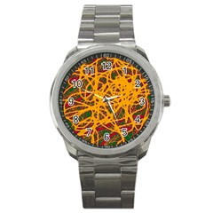 Yellow neon chaos Sport Metal Watch