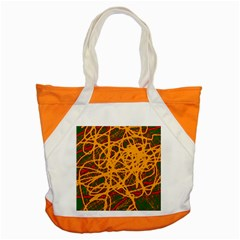Yellow neon chaos Accent Tote Bag