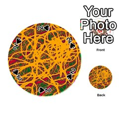 Yellow neon chaos Playing Cards 54 (Round)