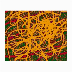 Yellow neon chaos Small Glasses Cloth (2-Side)