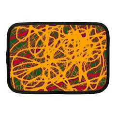Yellow neon chaos Netbook Case (Medium)