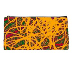 Yellow neon chaos Pencil Cases