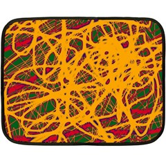 Yellow neon chaos Double Sided Fleece Blanket (Mini)
