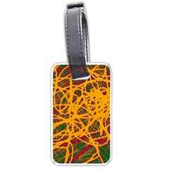 Yellow neon chaos Luggage Tags (Two Sides)