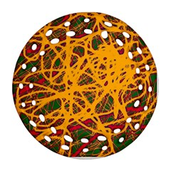 Yellow neon chaos Ornament (Round Filigree)