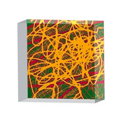Yellow neon chaos 4 x 4  Acrylic Photo Blocks