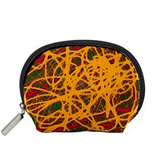 Yellow neon chaos Accessory Pouches (Small)