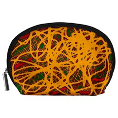 Yellow neon chaos Accessory Pouches (Large)