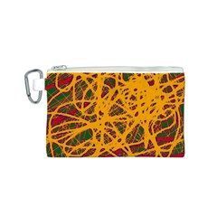 Yellow neon chaos Canvas Cosmetic Bag (S)