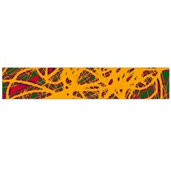 Yellow neon chaos Flano Scarf (Large)