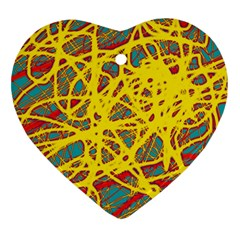 Yellow neon Ornament (Heart)