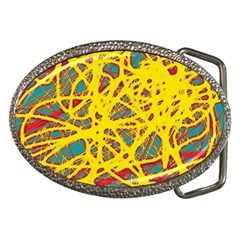 Yellow neon Belt Buckles