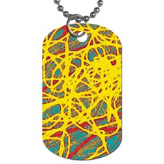 Yellow neon Dog Tag (One Side)