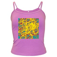 Yellow neon Dark Spaghetti Tank