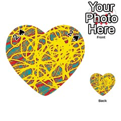 Yellow neon Playing Cards 54 (Heart)