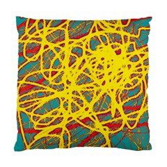 Yellow neon Standard Cushion Case (One Side)