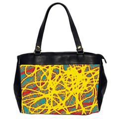 Yellow neon Office Handbags (2 Sides)