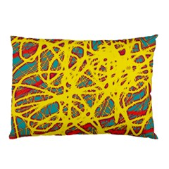 Yellow neon Pillow Case (Two Sides)